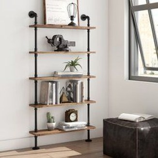 Innovative DIY Industrial Pipe Shelves You Can Make At Home 45