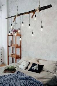 Pretty DIY Fairy Light Ideas For Minimalist Bedroom Decoration 36
