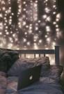 Pretty DIY Fairy Light Ideas For Minimalist Bedroom Decoration 51