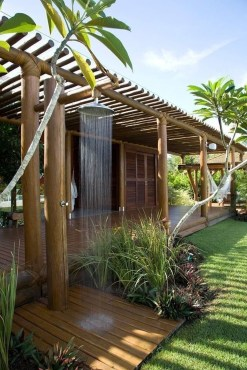 Spectacular Outdoor Bathroom Design Ideas That Feel Like A Vacation 08