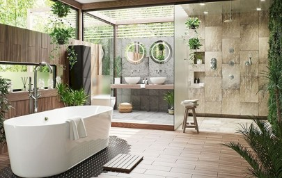 Spectacular Outdoor Bathroom Design Ideas That Feel Like A Vacation 50