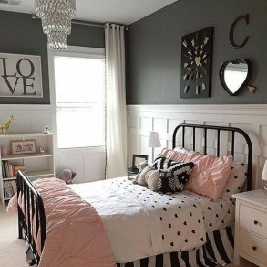 Stunning Teenage Bedroom Decoration Ideas With Big Bed 25
