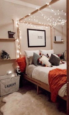 Stunning Teenage Bedroom Decoration Ideas With Big Bed 28