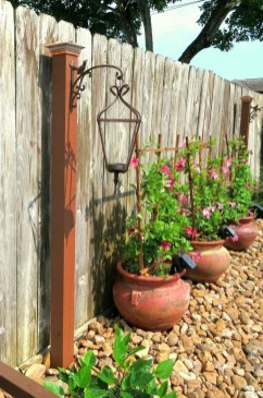 Beautiful Garden Fence Decorating Ideas To Follow 06