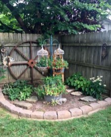 Beautiful Garden Fence Decorating Ideas To Follow 13
