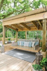 Comfy Spring Backyard Ideas With A Seating Area That Make You Feel Relax 28