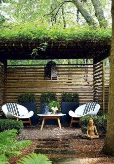 Comfy Spring Backyard Ideas With A Seating Area That Make You Feel Relax 32