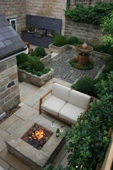 Comfy Spring Backyard Ideas With A Seating Area That Make You Feel Relax 33