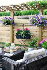 Comfy Spring Backyard Ideas With A Seating Area That Make You Feel Relax 37