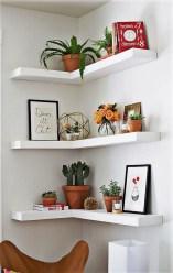 Creative Floating Corner Shelves For Living Room Organization Ideas 02
