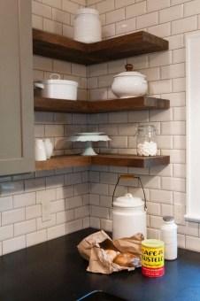 Creative Floating Corner Shelves For Living Room Organization Ideas 18