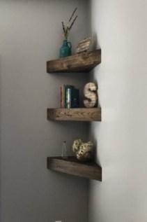 Creative Floating Corner Shelves For Living Room Organization Ideas 25