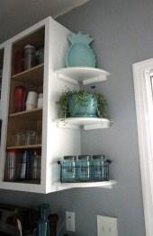 Creative Floating Corner Shelves For Living Room Organization Ideas 38
