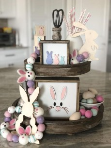 Cute Easter Bunny Decorations Ideas For Your Inspiration 12
