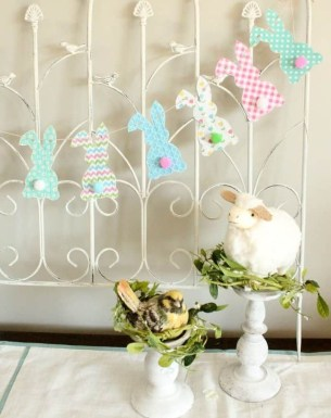 Cute Easter Bunny Decorations Ideas For Your Inspiration 17