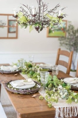 Easy And Natural Spring Tablescape To Home Decor Ideas 34