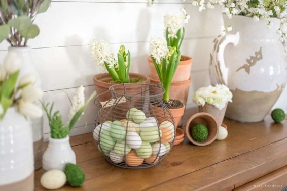 Easy And Natural Spring Tablescape To Home Decor Ideas 38