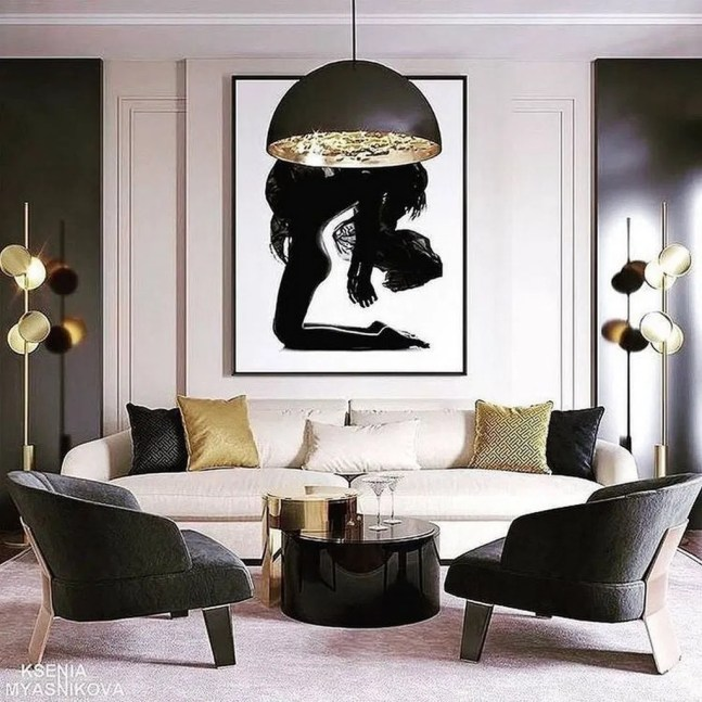 Fancy Gold Color Interior Design Ideas For Your Home Style To Copy 49