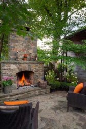 Marvelous Backyard Fireplace Ideas To Beautify Your Outdoor Decor 11