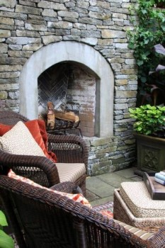 Marvelous Backyard Fireplace Ideas To Beautify Your Outdoor Decor 18