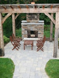 Marvelous Backyard Fireplace Ideas To Beautify Your Outdoor Decor 21