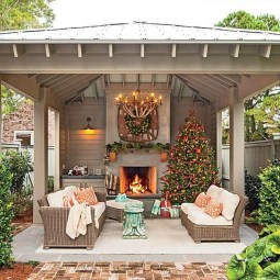 Marvelous Backyard Fireplace Ideas To Beautify Your Outdoor Decor 22