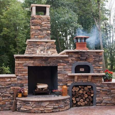 Marvelous Backyard Fireplace Ideas To Beautify Your Outdoor Decor 28