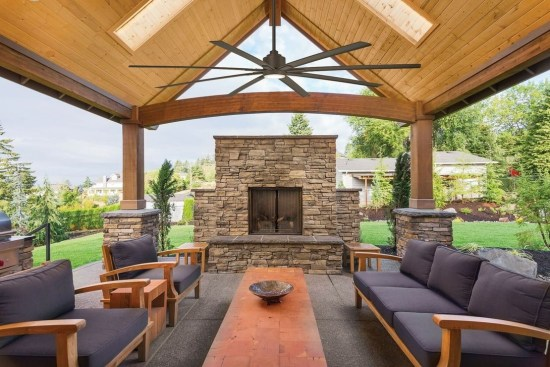 Marvelous Backyard Fireplace Ideas To Beautify Your Outdoor Decor 37