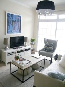 Popular Ways To Efficiently Arrange Furniture For Small Living Room 34
