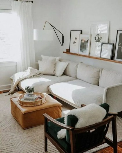 Popular Ways To Efficiently Arrange Furniture For Small Living Room 45