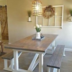 Rustic Farmhouse Table Ideas To Use In The Decor 21