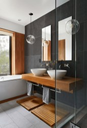 Unordinary Bathroom Design Ideas With Stunning Wood Shades 03