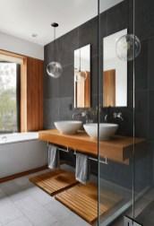 Unordinary Bathroom Design Ideas With Stunning Wood Shades 03