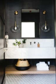 Unordinary Bathroom Design Ideas With Stunning Wood Shades 19