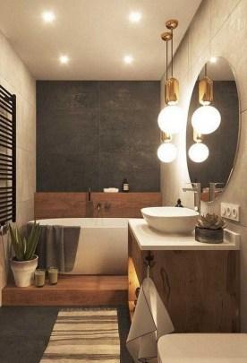 Unordinary Bathroom Design Ideas With Stunning Wood Shades 27