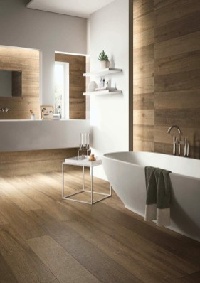 Unordinary Bathroom Design Ideas With Stunning Wood Shades 34