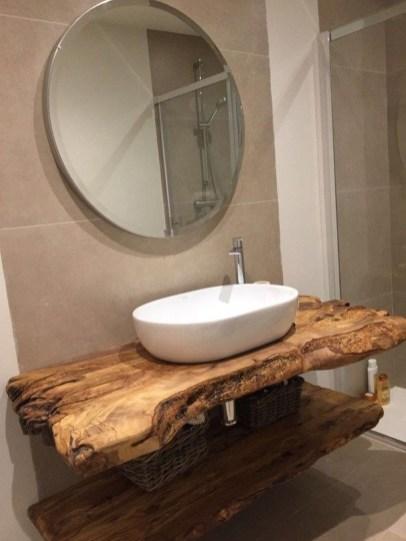 Unordinary Bathroom Design Ideas With Stunning Wood Shades 47