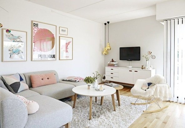 Cute Pastel Living Room Design Ideas That You Should Have 10