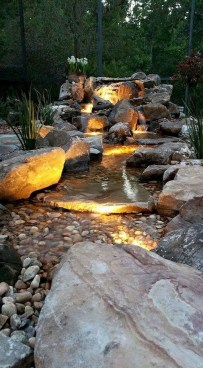 Innovative DIY Backyard Waterfall Ideas To Beautify Your Home Garden 18