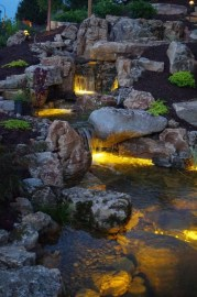 Innovative DIY Backyard Waterfall Ideas To Beautify Your Home Garden 26