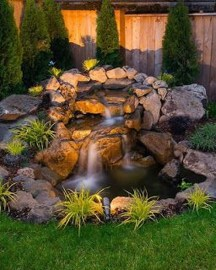 Innovative DIY Backyard Waterfall Ideas To Beautify Your Home Garden 27