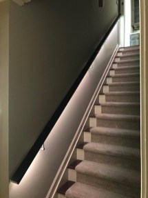 Perfect Home Stair Design With Light That Very Beautiful 20