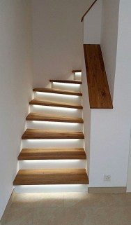 Perfect Home Stair Design With Light That Very Beautiful 30