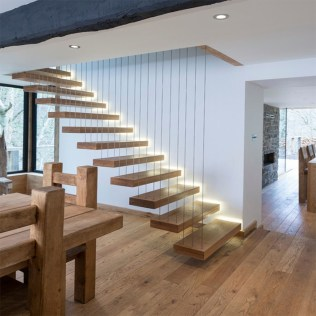 Perfect Home Stair Design With Light That Very Beautiful 38