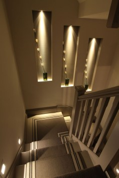 Perfect Home Stair Design With Light That Very Beautiful 42