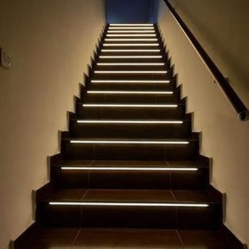 Perfect Home Stair Design With Light That Very Beautiful 44