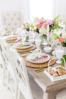 Superb Easter Table Decoration Ideas To Give Your Tablescape A Festive Vibe 12