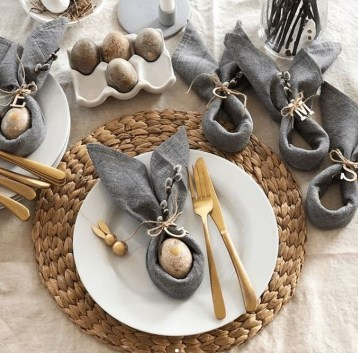 Superb Easter Table Decoration Ideas To Give Your Tablescape A Festive Vibe 18