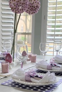 Superb Easter Table Decoration Ideas To Give Your Tablescape A Festive Vibe 23