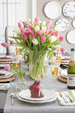Superb Easter Table Decoration Ideas To Give Your Tablescape A Festive Vibe 26